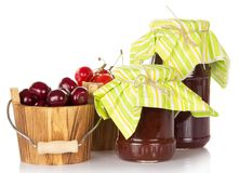 Different grades of sweet cherry Stock Image