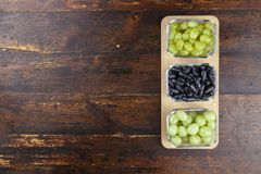 Different grape varieties royalty free stock images