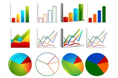 Different Graph Stock Images