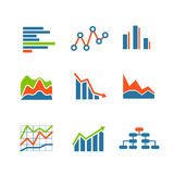 Different graphic business ratings and charts Stock Image