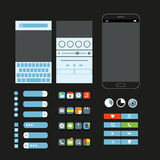 Different graphic elements set. Modern smartphone interface Royalty Free Stock Image