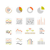Different graphic ratings and charts Stock Image