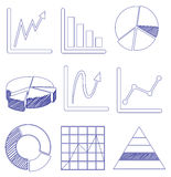 Different graphs Royalty Free Stock Photo