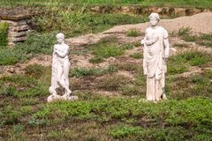 Different Greek statue found at ancient Dion of Katerini, Greece. Different Greek statue found at ancient Dion of Katerini city, Greece Royalty Free Stock Image