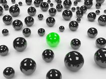 Different green ball Royalty Free Stock Image