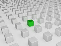 Different green cube Stock Photography