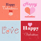 Different greetings for Valentines Day Royalty Free Stock Photos