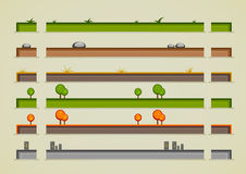 Different ground sprites for creating video games. Set of ground sprites for creating video games Stock Illustration