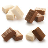 Different groups of caramel candy Stock Photo