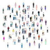 Different groups of people, vector illustration Stock Photos