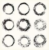 Different grunge circles, vector Stock Images