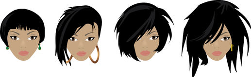 Different Hair Styles Stock Image