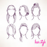Different hairstyles Royalty Free Stock Photo