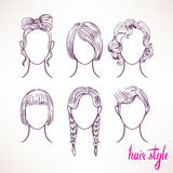 Different hairstyles - 2 Stock Images