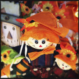 Different Halloween decorations Royalty Free Stock Photo