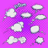 Different hand drawn bubbles for comics vector illustration grey Royalty Free Stock Photography