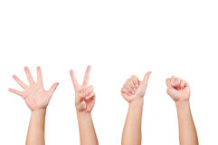 Different hand gesture Stock Photo