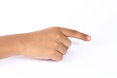 Different hand signs. In white background Royalty Free Stock Image