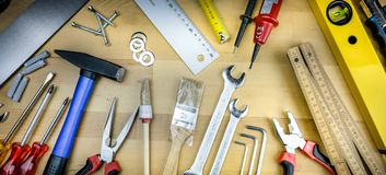 Different Hand Tools royalty free stock photography