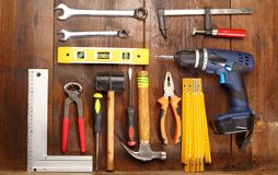 Different hand tools Royalty Free Stock Photos