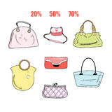 Different handbags Royalty Free Stock Image