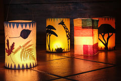 Different handmade lanterns Royalty Free Stock Image