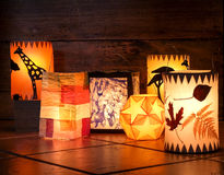 Different handmade lanterns Royalty Free Stock Photography
