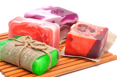 Different handmade soaps Royalty Free Stock Image