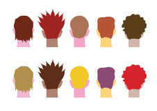 Different heads people Royalty Free Stock Images