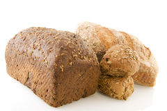 Different healthy brown bread Royalty Free Stock Photo
