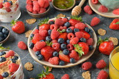 Different healthy food Stock Photography
