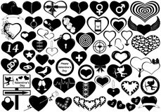 Different Hearts. Isolated on white Royalty Free Stock Images