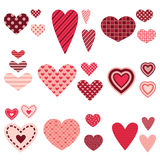 Different hearts vector set Royalty Free Stock Photo