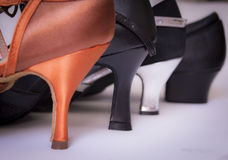 Different heels women shoes. Different heels dancing shoes woman royalty free stock images