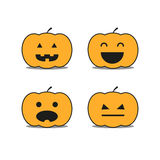 Different helloween pumpkin icons. Clip-art Stock Images