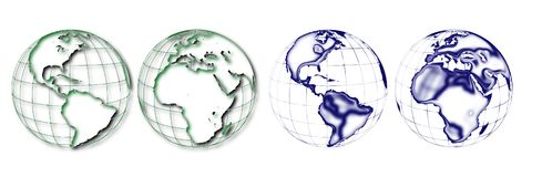 Different hemisphere of the earth stock illustration