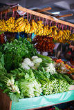 Different herbs at market stall royalty free stock image