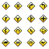 Different highly detailed and fully   Traffic-Road Sign Collection. ready to use Royalty Free Stock Images