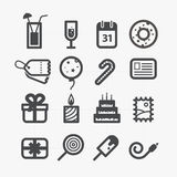 Different holiday icons set with rounded corners Royalty Free Stock Image