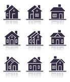 Different home icons Royalty Free Stock Photos