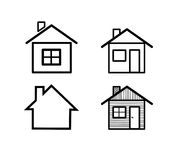 Different home icons. Royalty Free Stock Photography
