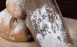 Spelled homemade bread royalty free stock photo