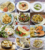 Different homemade dishes Royalty Free Stock Images