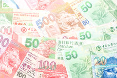Different Hong Kong Currency money Royalty Free Stock Photos