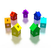 Different house Stock Image