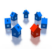 Different house Royalty Free Stock Photography