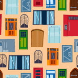 Different house doors vector elements Stock Photo