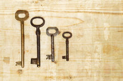Different house keys Royalty Free Stock Images