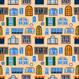 Different house windows vector elements Royalty Free Stock Photo