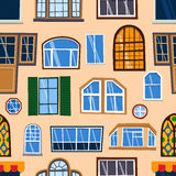 Different house windows vector elements Royalty Free Stock Photography